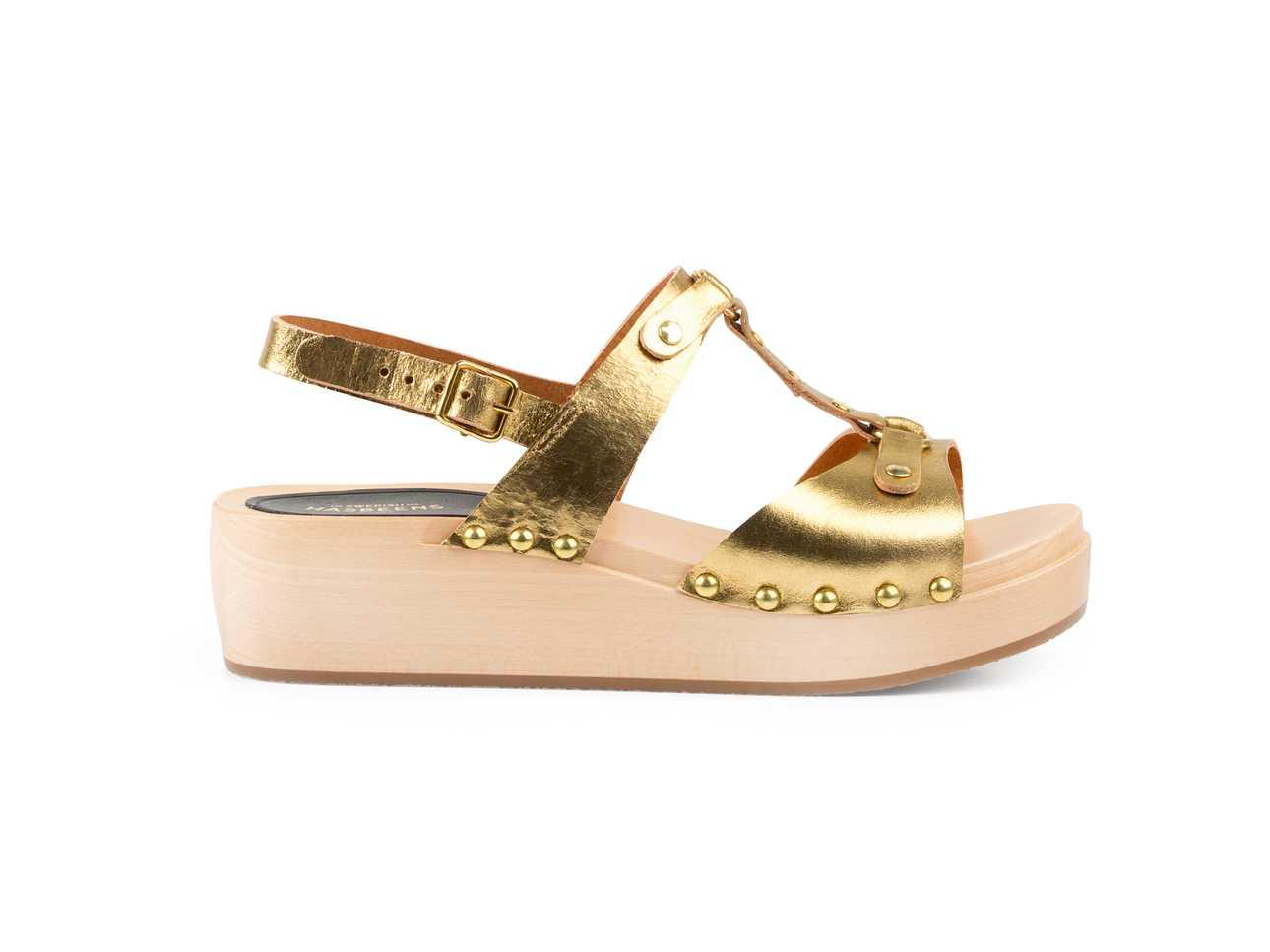 Rivet Sandal Gold