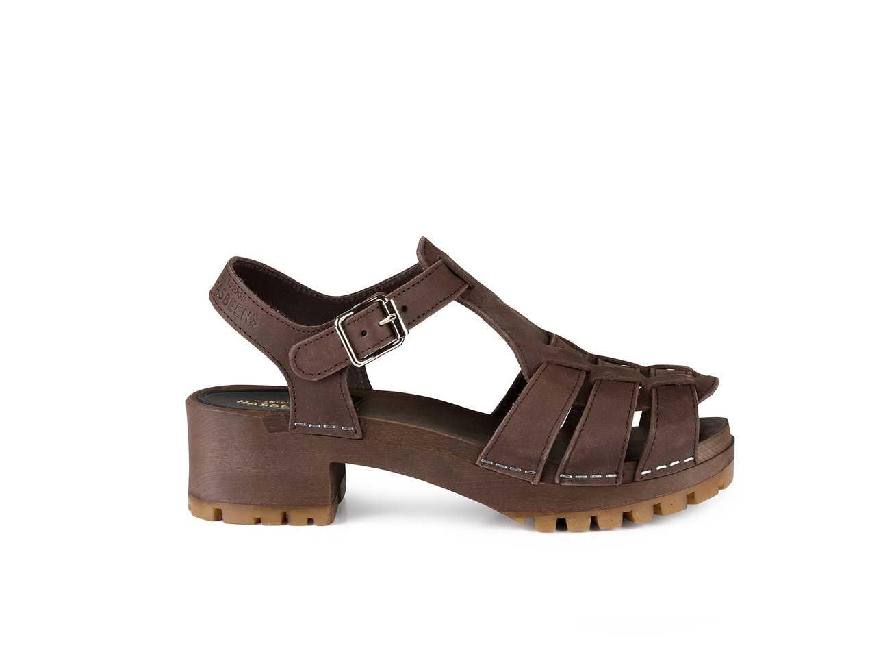 Grunge Sandal Chocolate Brown Nubuck / Chocolate Brown Sole