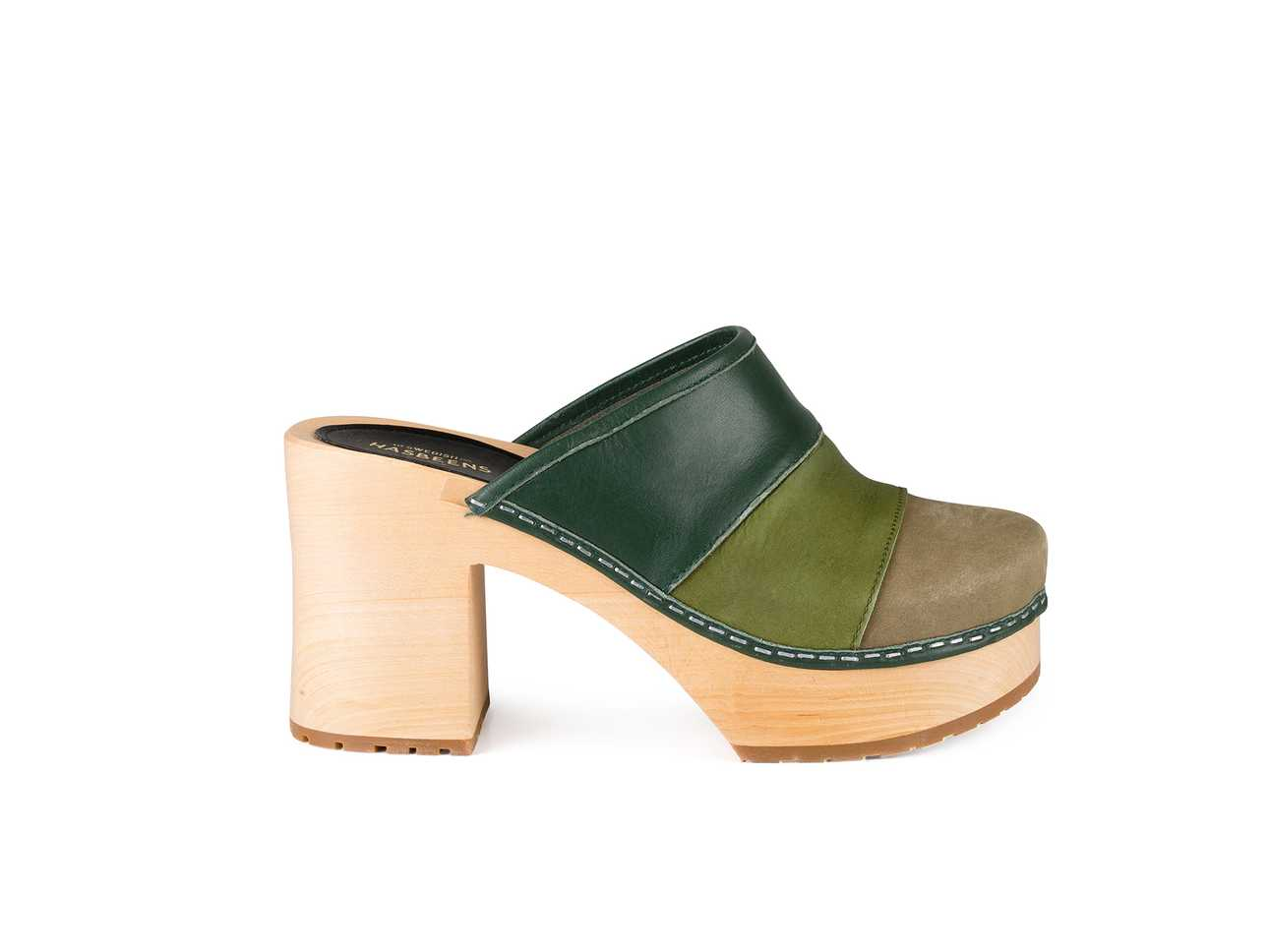 Color Combo Slip In Green Nubuck Color Combo